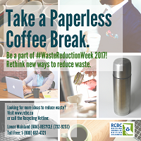 Waste Reduction Paperless Coffee Break