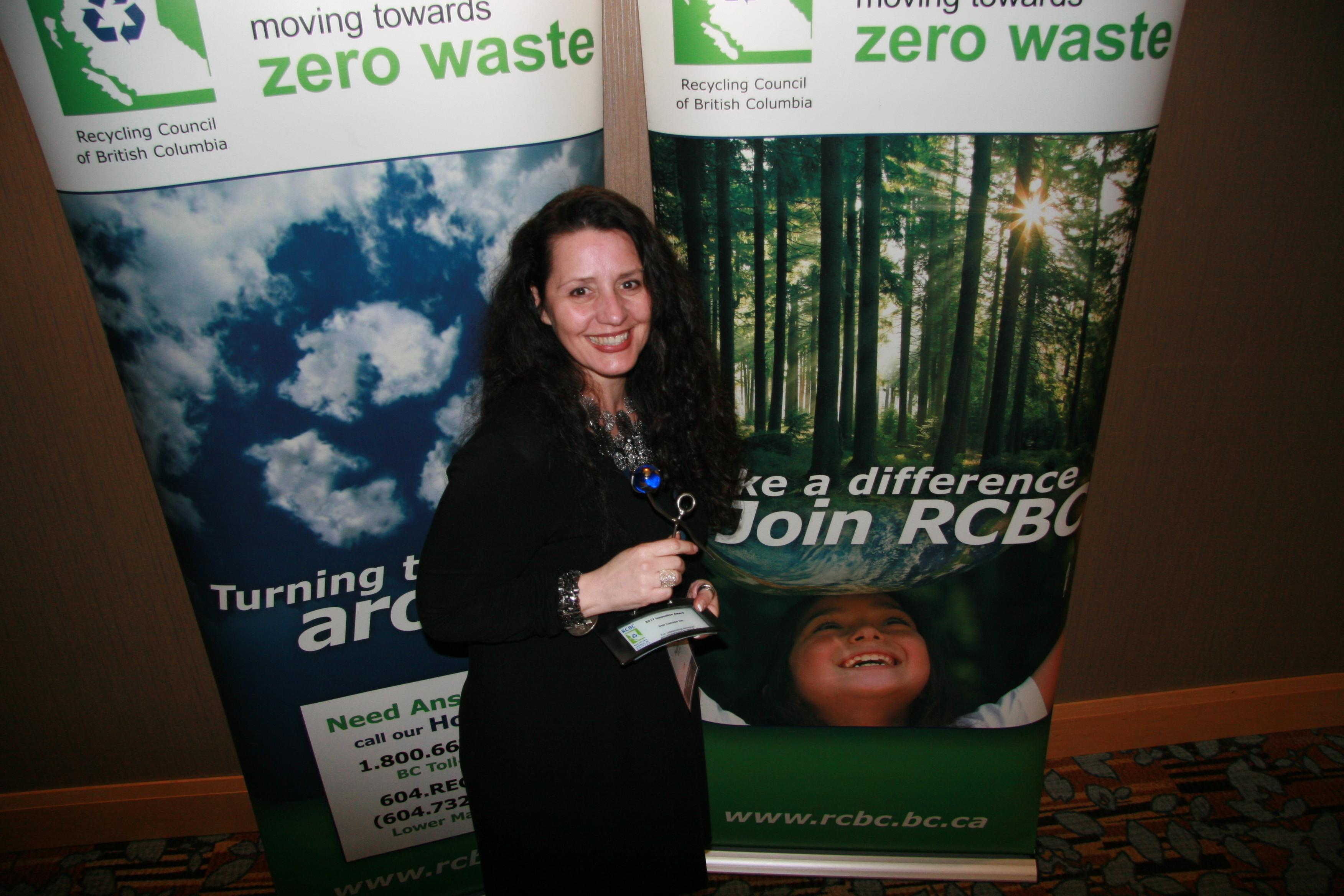 Dell Canada's Elena Papakosta with RCBC Award