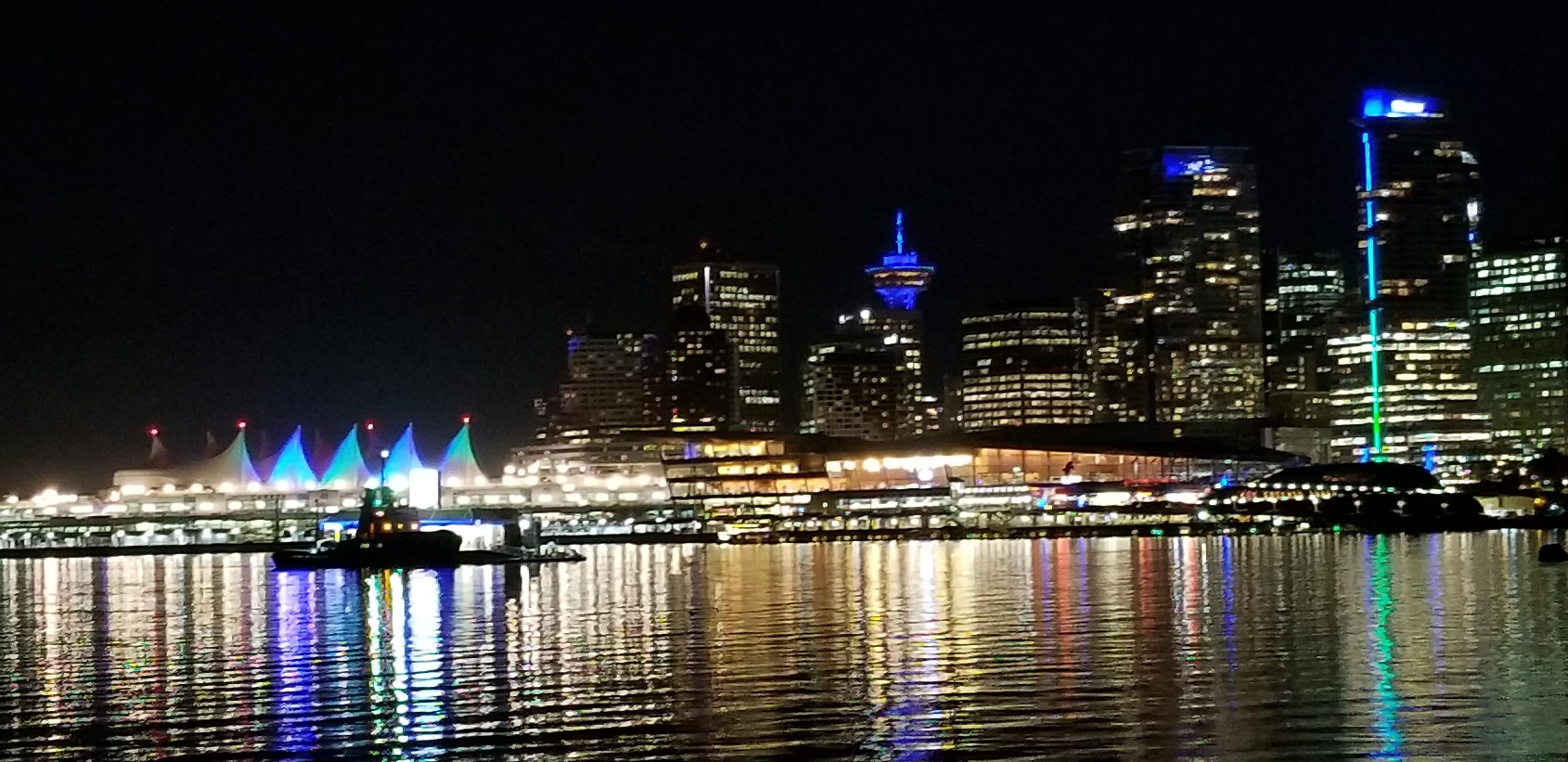 Canada Place Waste Reduction Week Lighting